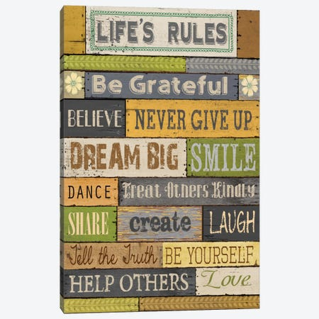 Life's Rules Canvas Print #KNU34} by Conrad Knutsen Canvas Artwork