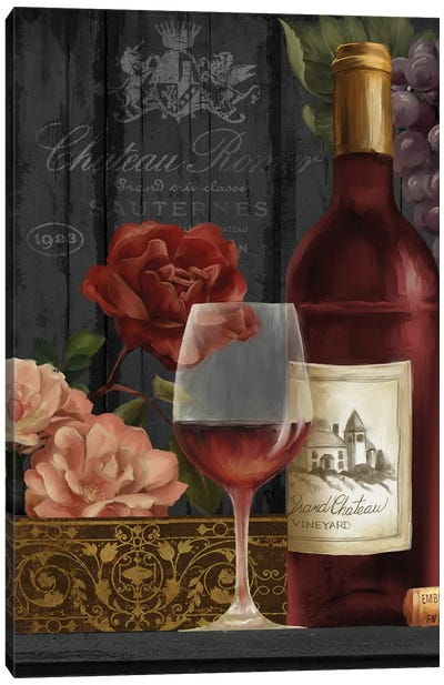 Chateau Wine I Canvas Art Print
