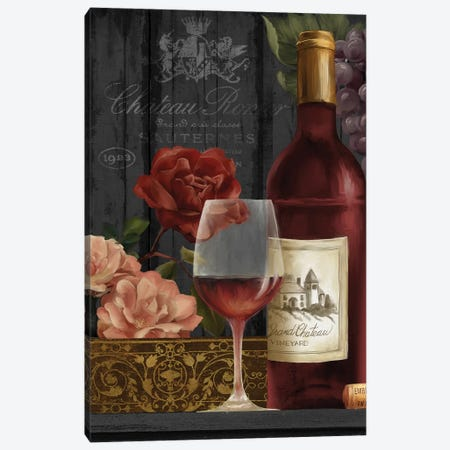 Chateau Wine I Canvas Print #KNU35} by Conrad Knutsen Canvas Art