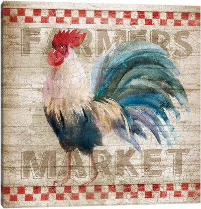 Morning Market Canvas Art Print