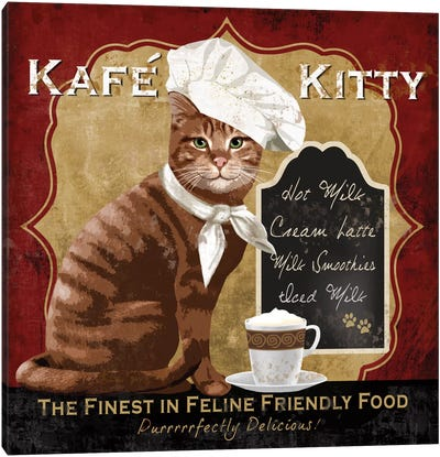 Kafe Kitty Canvas Art Print