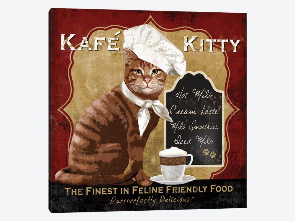 Kafe Kitty by Conrad Knutsen 1-piece Canvas Print