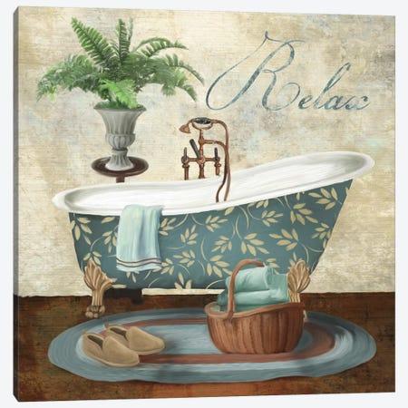 Bath Relax Canvas Print #KNU46} by Conrad Knutsen Art Print
