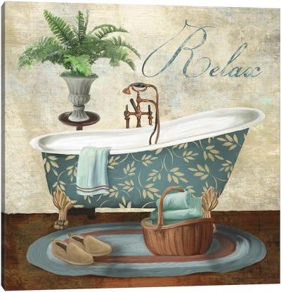 Bath Relax Canvas Art Print