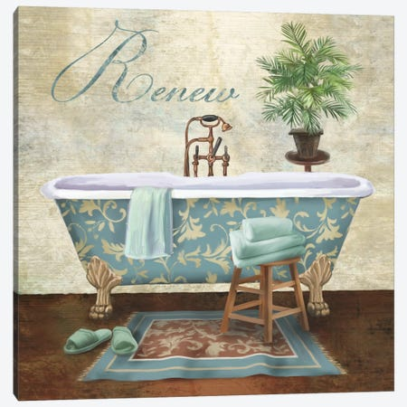 Bath Renew Canvas Print #KNU47} by Conrad Knutsen Canvas Art Print