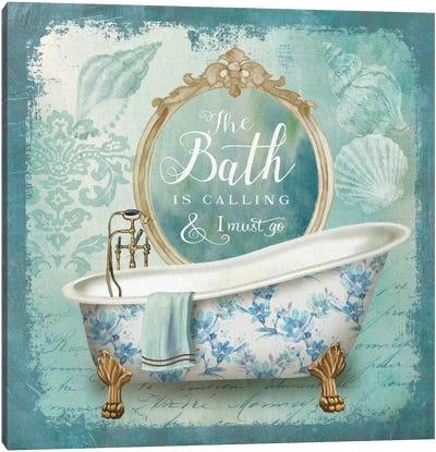Mirror Bath II Canvas Art Print