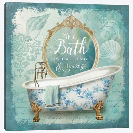 Mirror Bath II Canvas Print #KNU53} by Conrad Knutsen Art Print
