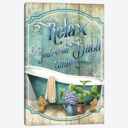 You're On Bath Time Canvas Print #KNU57} by Conrad Knutsen Canvas Artwork
