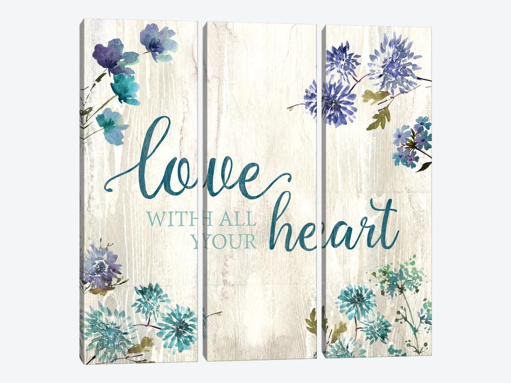 All Your Heart by Conrad Knutsen 3-piece Canvas Art Print
