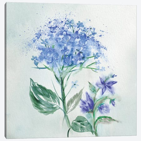 Blue Flower Wash I Canvas Print #KNU60} by Conrad Knutsen Canvas Wall Art