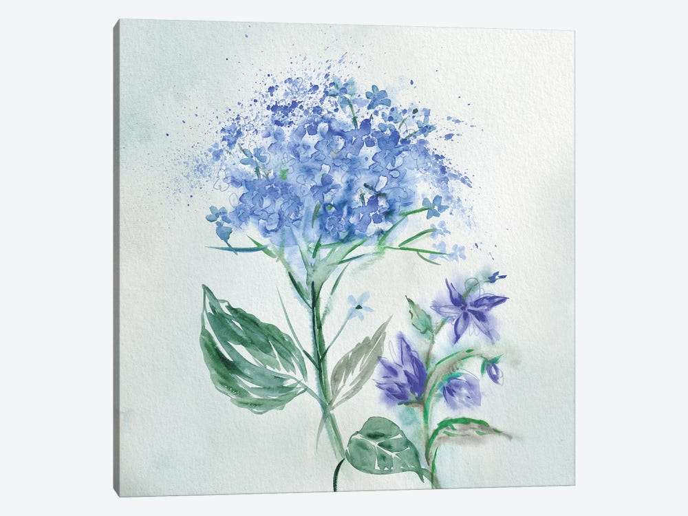 Blue Flower Wash I by Conrad Knutsen 1-piece Canvas Wall Art