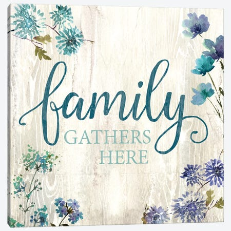 Family Gathers Here Canvas Print #KNU63} by Conrad Knutsen Canvas Artwork