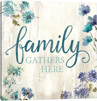 Family Gathers Here Canvas Art Print