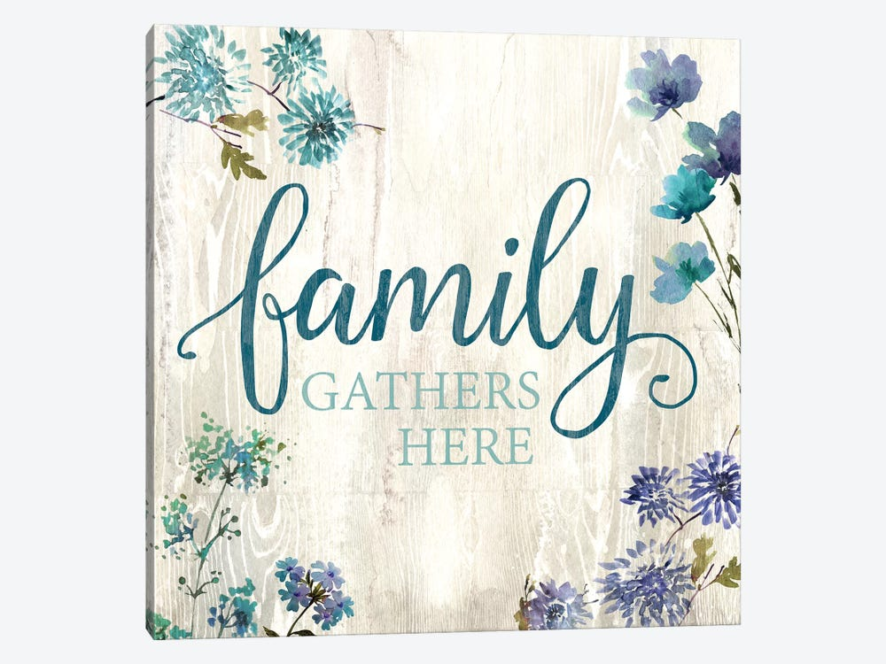 Family Gathers Here 1-piece Canvas Print
