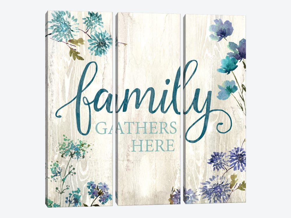 Family Gathers Here by Conrad Knutsen 3-piece Canvas Print