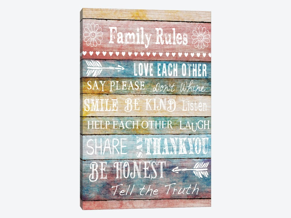 Family Rules by Conrad Knutsen 1-piece Canvas Print