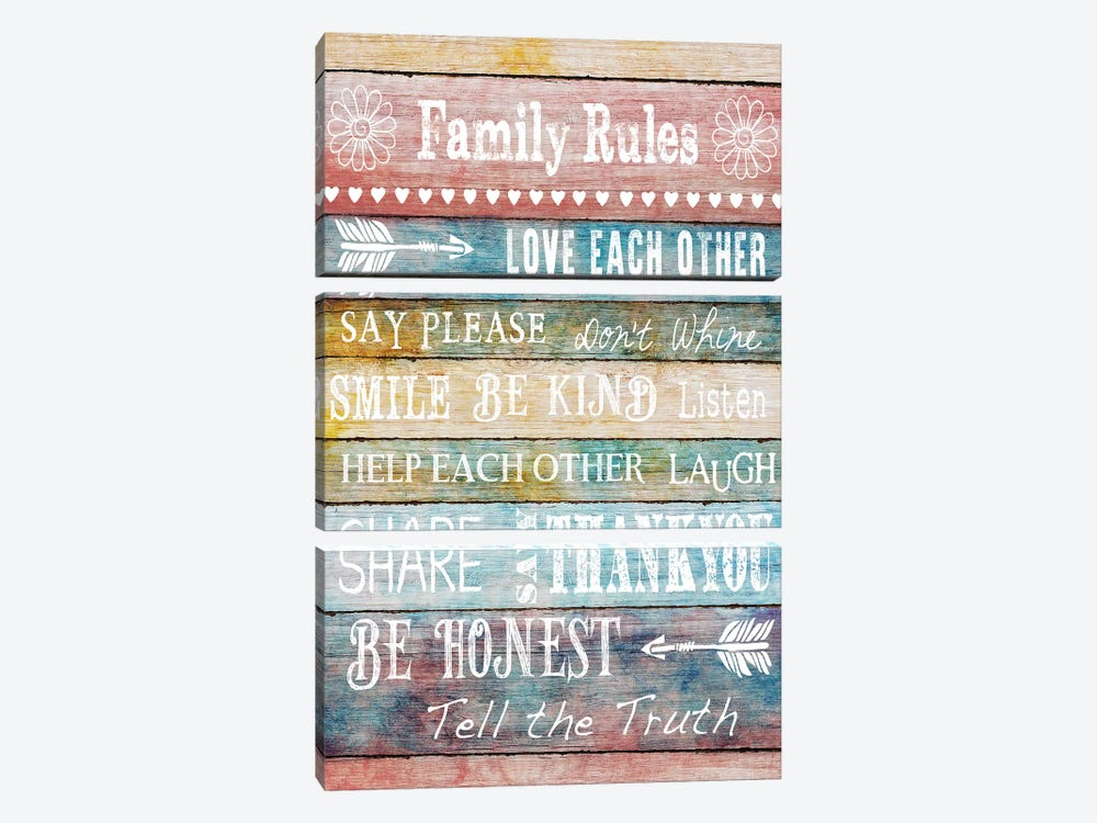 Family Rules by Conrad Knutsen 3-piece Art Print