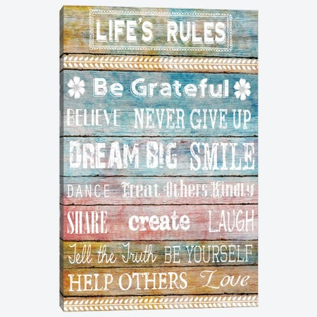 Life's Rules Canvas Print #KNU67} by Conrad Knutsen Canvas Art Print