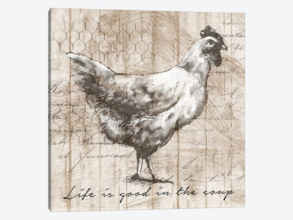 Farm Hen by Conrad Knutsen 1-piece Canvas Print