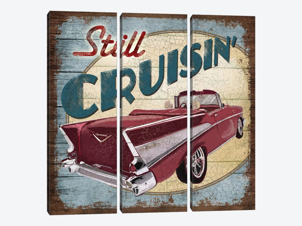 Still Cruisin' by Conrad Knutsen 3-piece Canvas Artwork