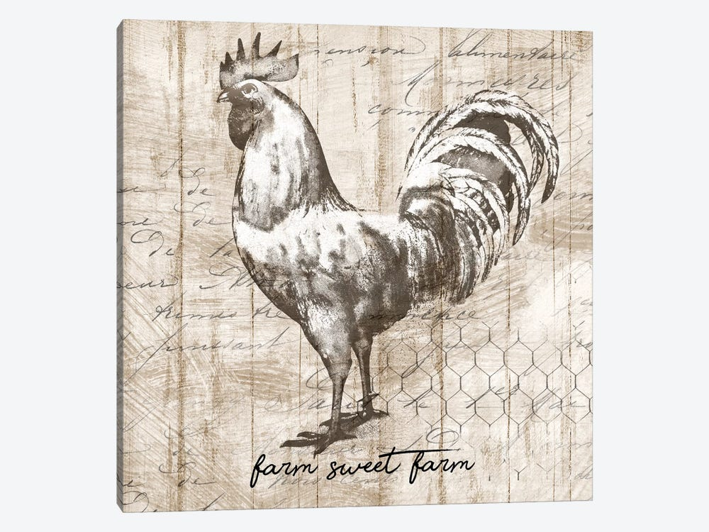 Farm Rooster 1-piece Canvas Print
