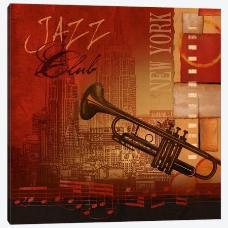 Jazz Club Canvas Print #KNU88} by Conrad Knutsen Canvas Art