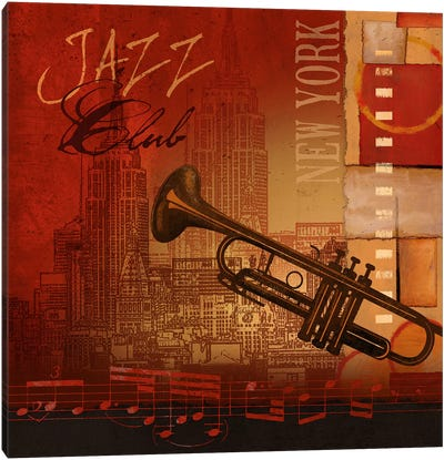 Jazz Club Canvas Art Print