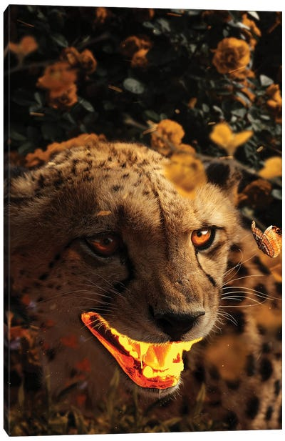 Gold Gepard Canvas Art Print