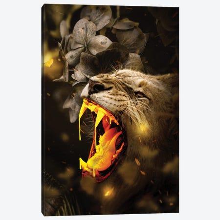 Gold Lion Canvas Print #KNV13} by Milos Karanovic Canvas Artwork