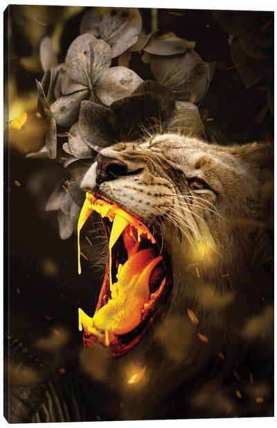 Gold Lion Canvas Art Print