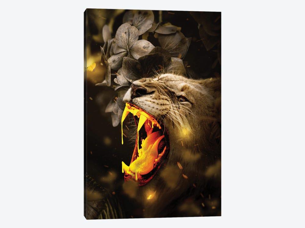 Gold Lion by Milos Karanovic 1-piece Canvas Art