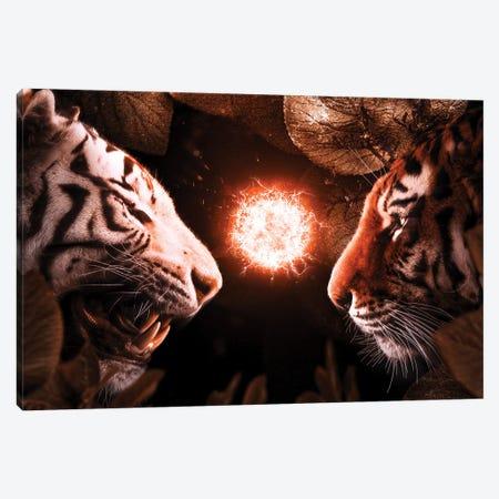 Beasts Fight Canvas Print #KNV32} by Milos Karanovic Canvas Artwork