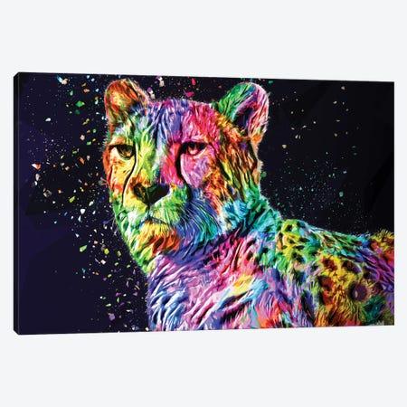 Colored Leopard Canvas Print #KNV54} by Milos Karanovic Canvas Print