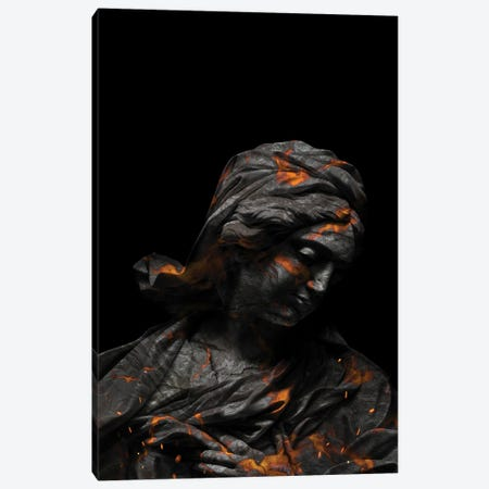 Lava Sculpture Canvas Print #KNV68} by Milos Karanovic Canvas Print