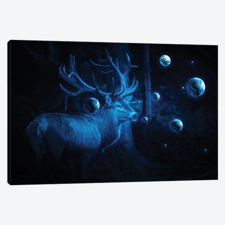 Deer Cosmos Canvas Print #KNV6} by Milos Karanovic Canvas Art