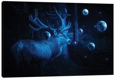 Deer Cosmos Canvas Art Print