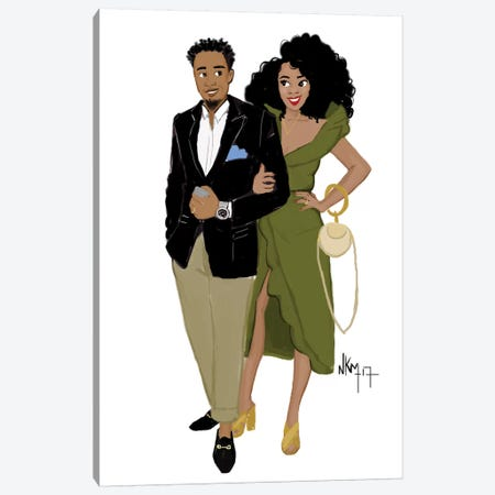 Black Love Complicity Canvas Print #KOB12} by Nicholle Kobi Canvas Print