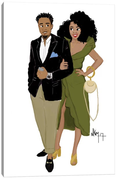 Black Love Complicity Canvas Art Print