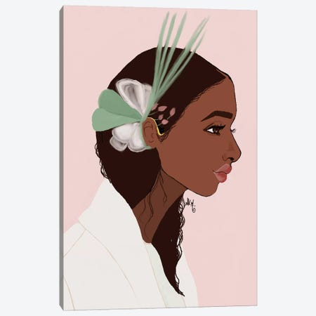 Couronne Hair Canvas Print #KOB16} by Nicholle Kobi Canvas Wall Art