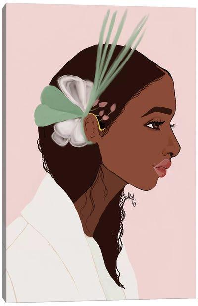 Couronne Hair Canvas Art Print
