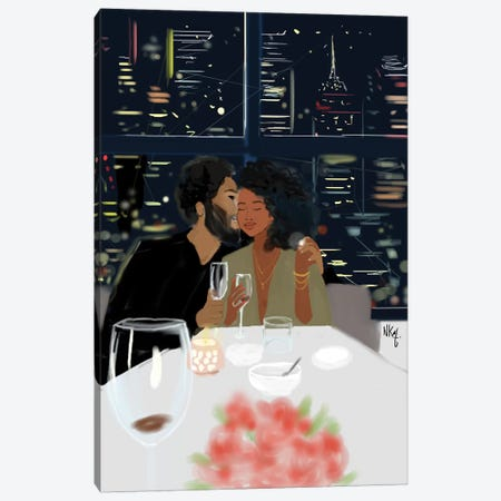 Couples Canvas Print #KOB19} by Nicholle Kobi Art Print