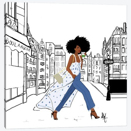 Parisienne Canvas Print #KOB20} by Nicholle Kobi Canvas Artwork