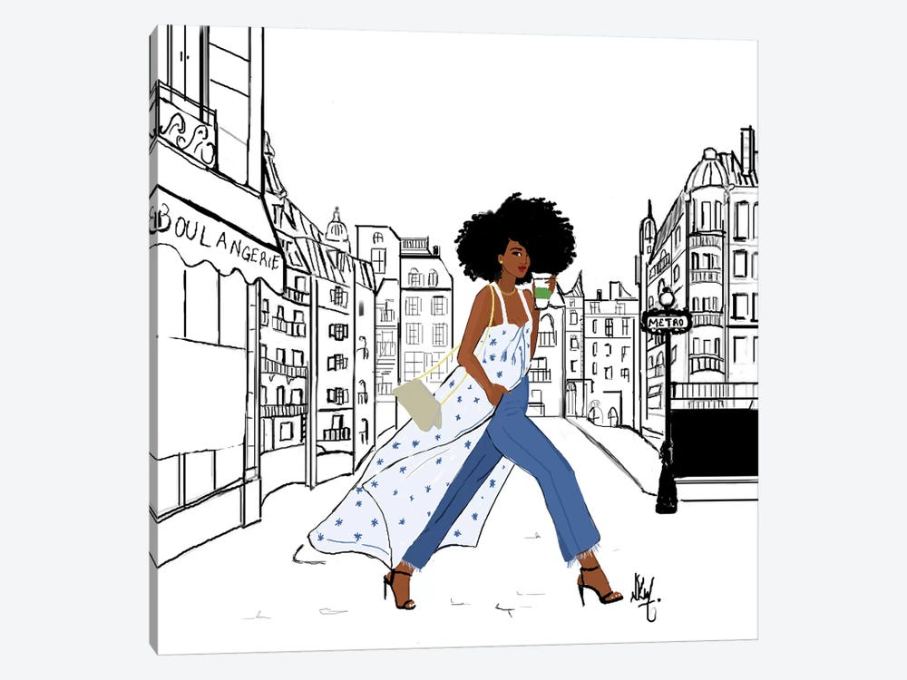 Parisienne by Nicholle Kobi 1-piece Canvas Artwork