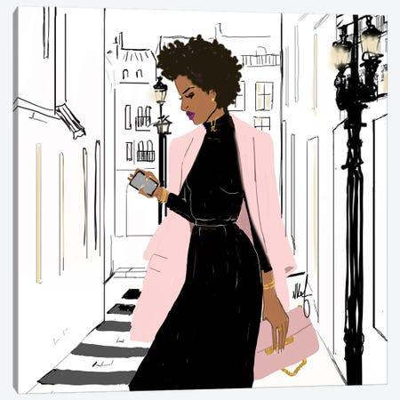 Pink Monday Canvas Print #KOB21} by Nicholle Kobi Canvas Wall Art