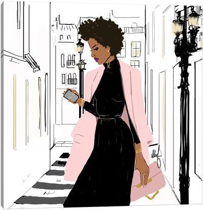 Pink Monday Canvas Art Print