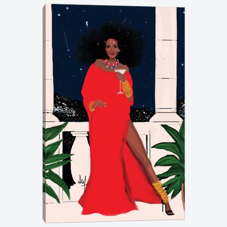 Red And Flawless Canvas Print #KOB22} by Nicholle Kobi Canvas Wall Art
