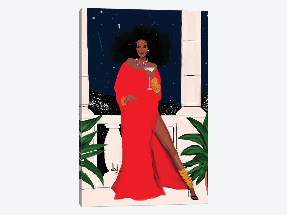 Red And Flawless by Nicholle Kobi 1-piece Canvas Artwork