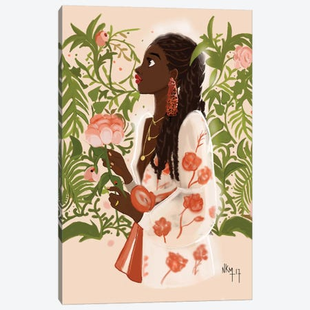 September Girl Canvas Print #KOB23} by Nicholle Kobi Canvas Artwork