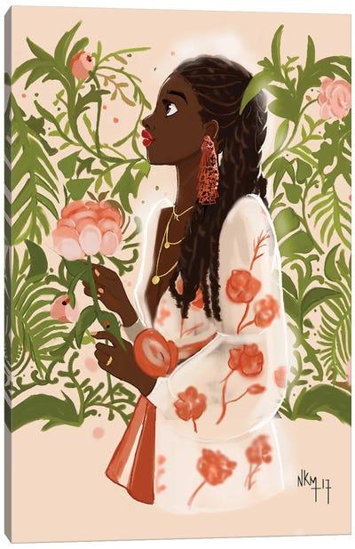 September Girl Canvas Art Print