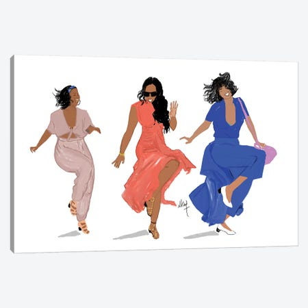 3 Brown Girls Canvas Print #KOB2} by Nicholle Kobi Canvas Art Print